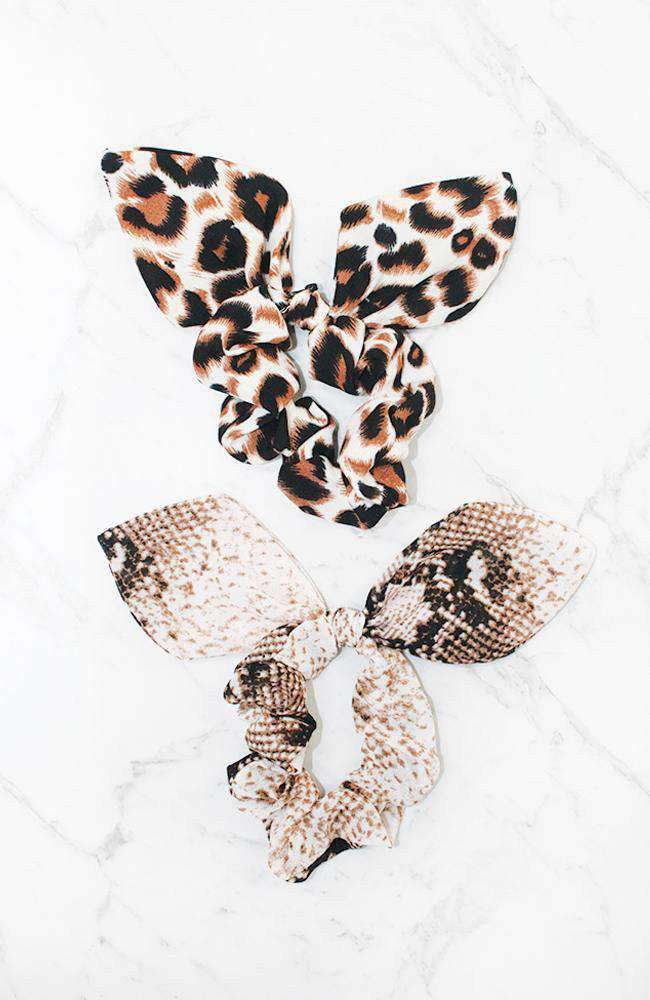 snake scrunchie set
