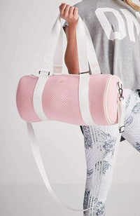 sports pastel neoprene perforated duffle bag