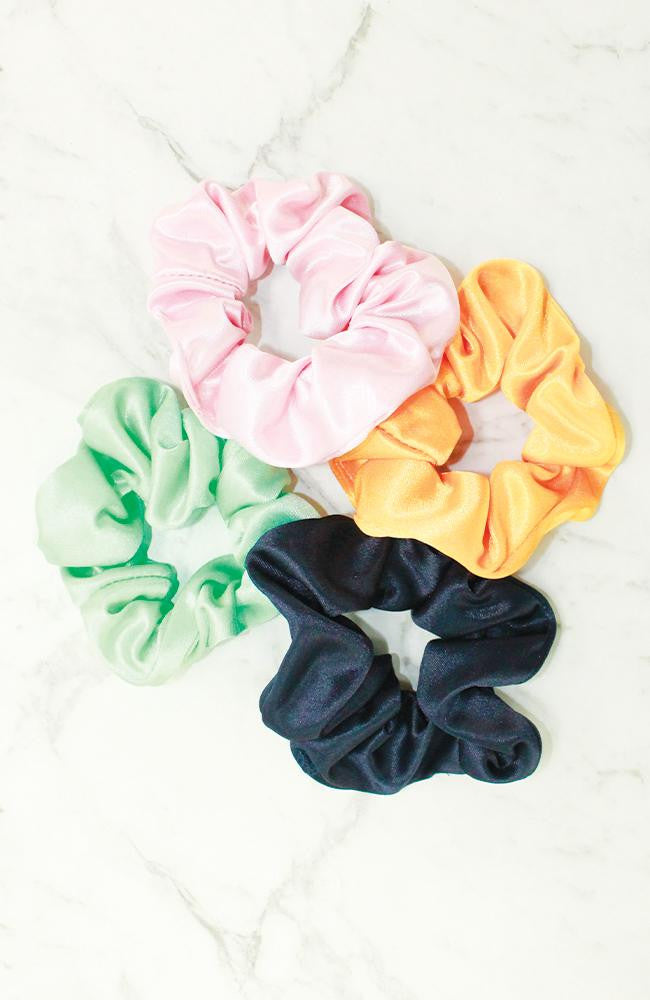 rainbow scrunchies set
