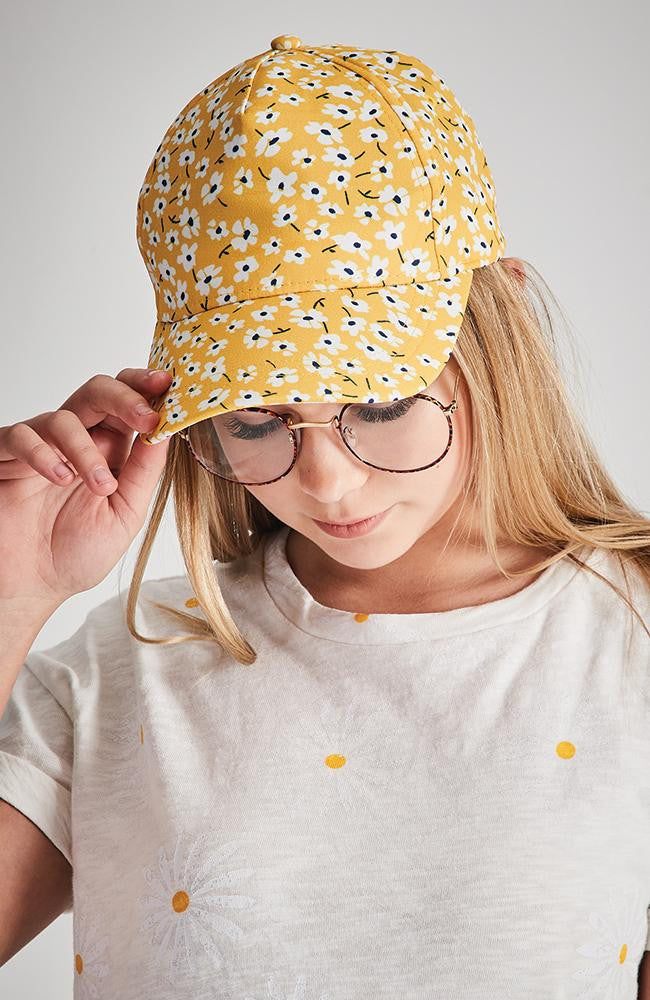 frankie yellow floral baseball cap