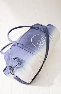 rainbow ombre dip-dye canvas weekend duffle travel bag