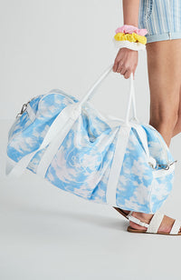 tie dye canvas duffle weekend tote travel bag