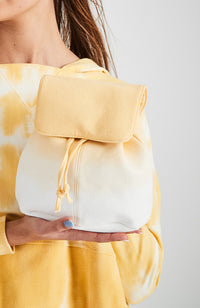 rainbow ombre dip dye canvas mini backpack