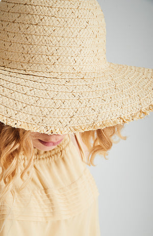 summer rush metallic gold handmade wide brim straw hat