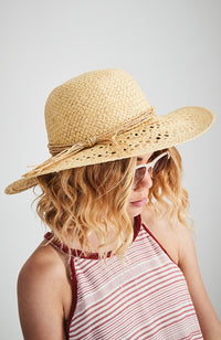 bailey beach pastel yellow wide brim boho straw hat