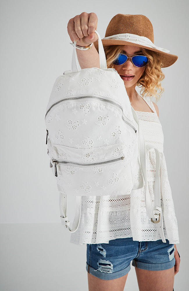 AS965304 White Lace Backpack
