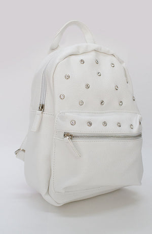 diamond studded pastel vegan leather party backpack