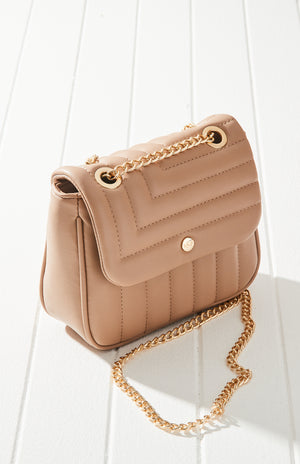 gigi quilted vegan leather mini crossbody chain bag