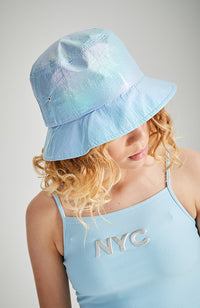 iridescent bucket hat