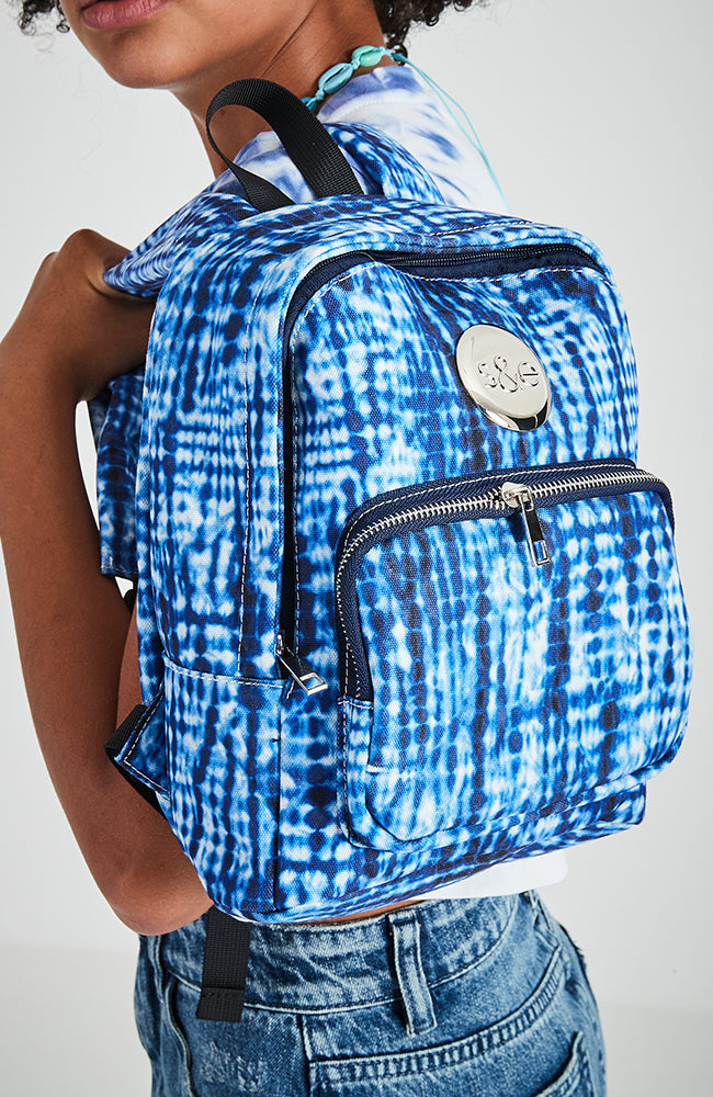Winter Surf Tie Dye Canvas Backpack - Blue