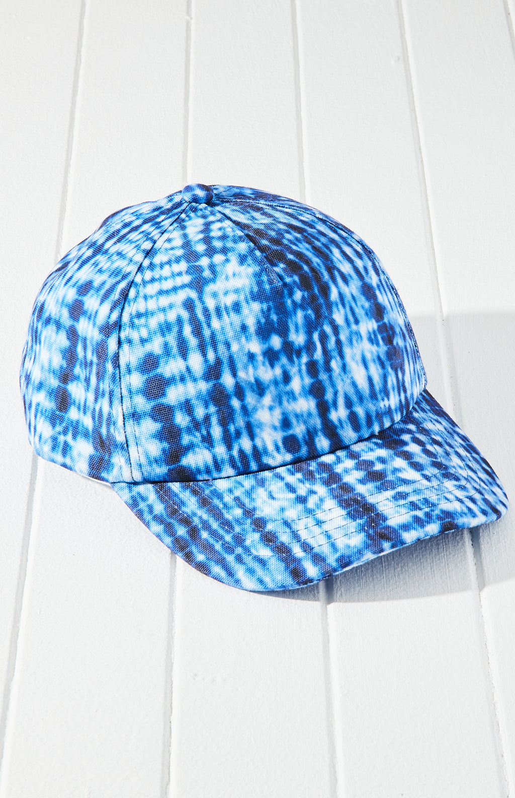 Winter Surf Tie Dye Canvas Baseball Cap - Blue