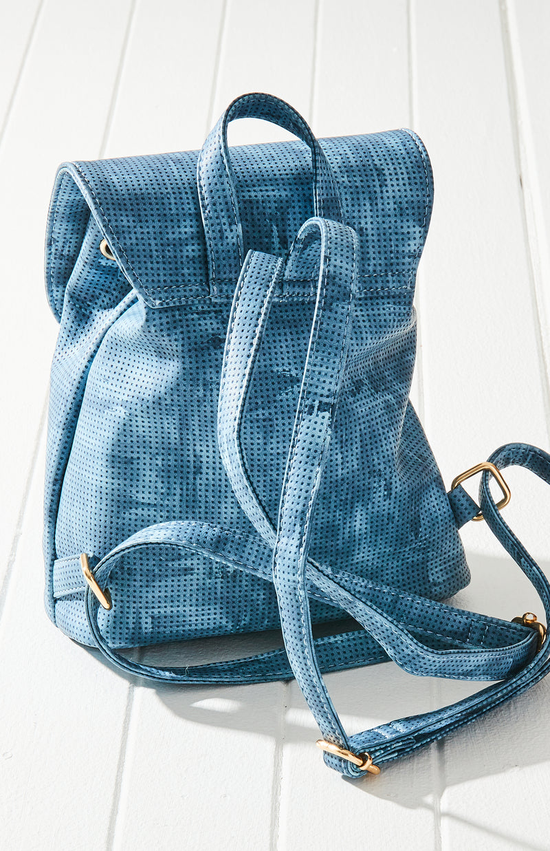 tie dye embossed backpack