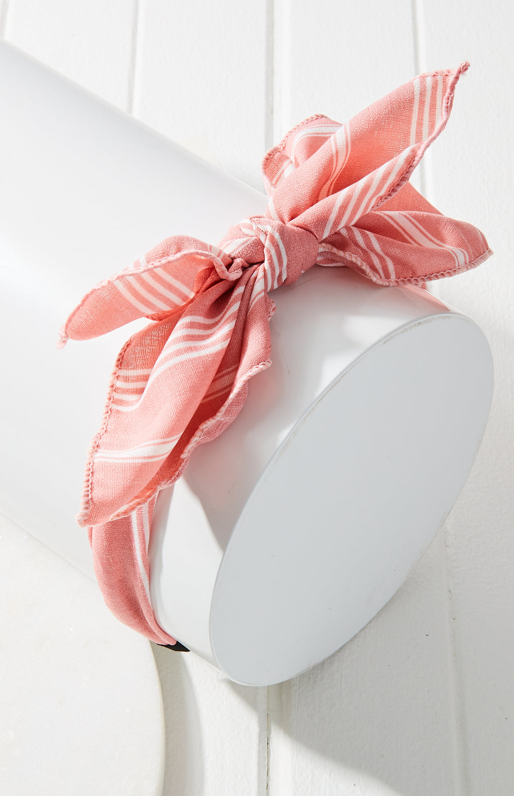 Vintage Striped Bow Headband