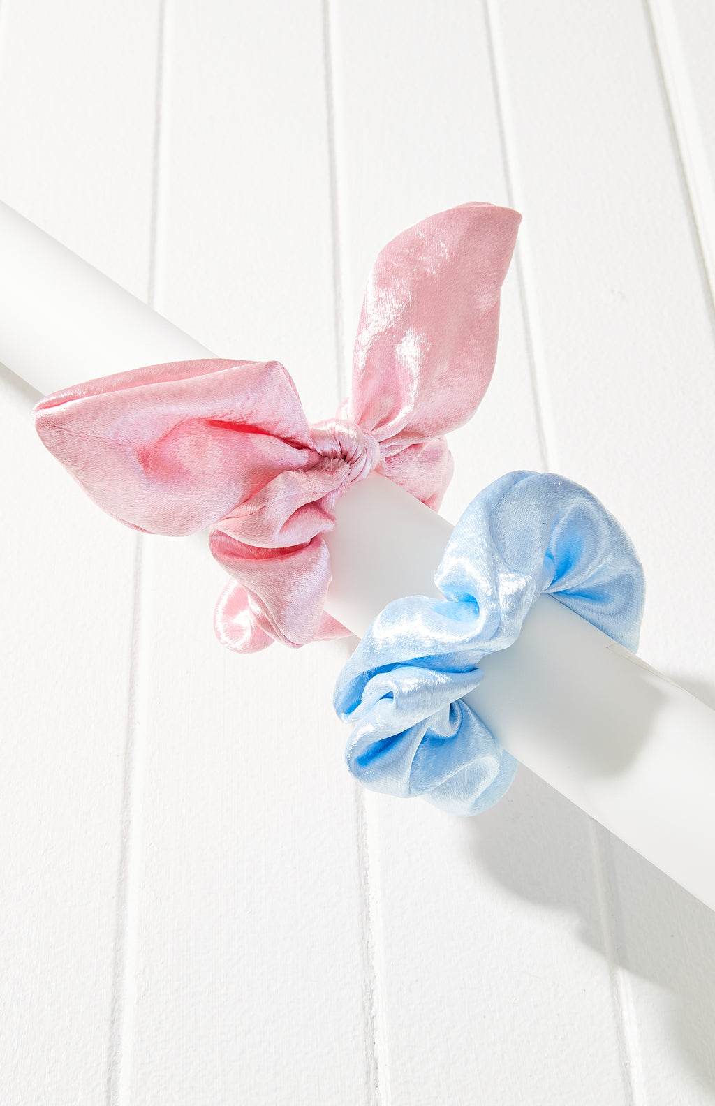 Satin Bow Scrunchie Hair Tie 2 Pack