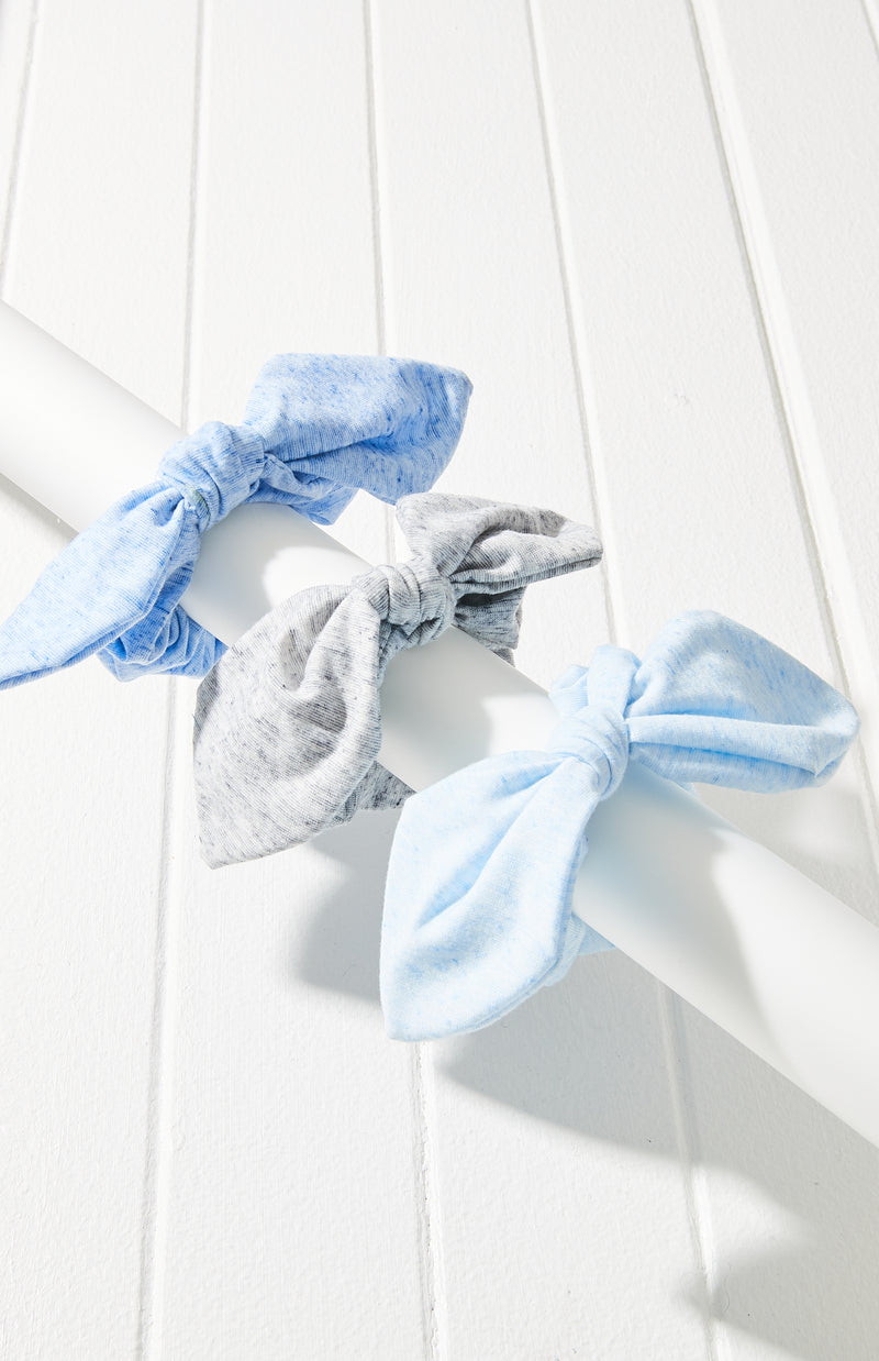 Super Soft Jersey Bow Scrunchie Hair Tie 3 Pack