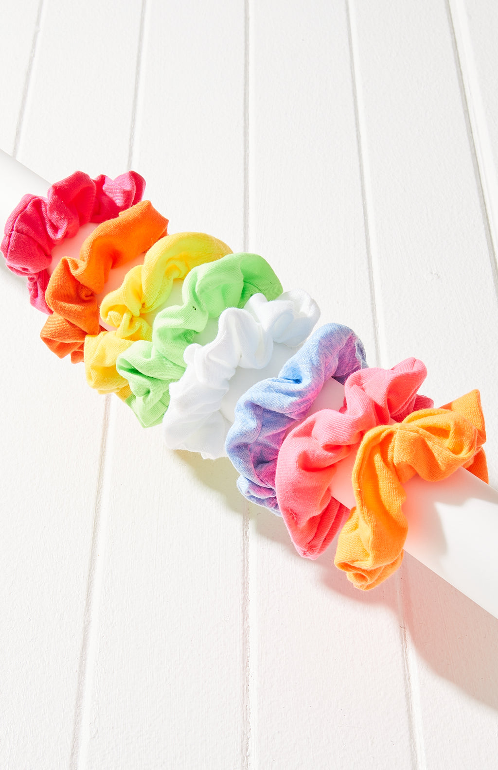 Ultimate Rainbow Scrunchie Hair Tie 8 Pack