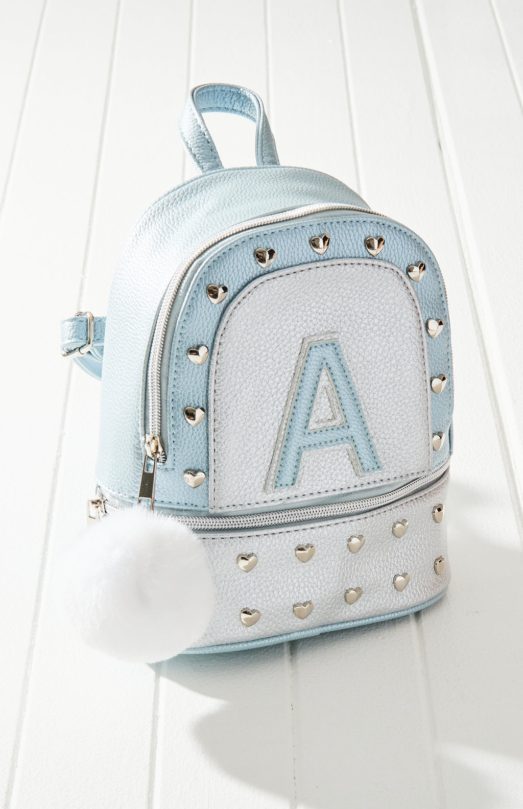 A' Heart Studded Mini Backpack