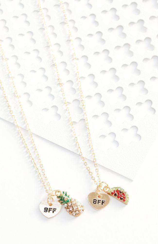fruit bff necklace set