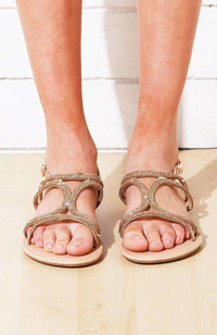 strappy diamond sandal