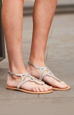 gigi crystal vegan leather boho party sandals