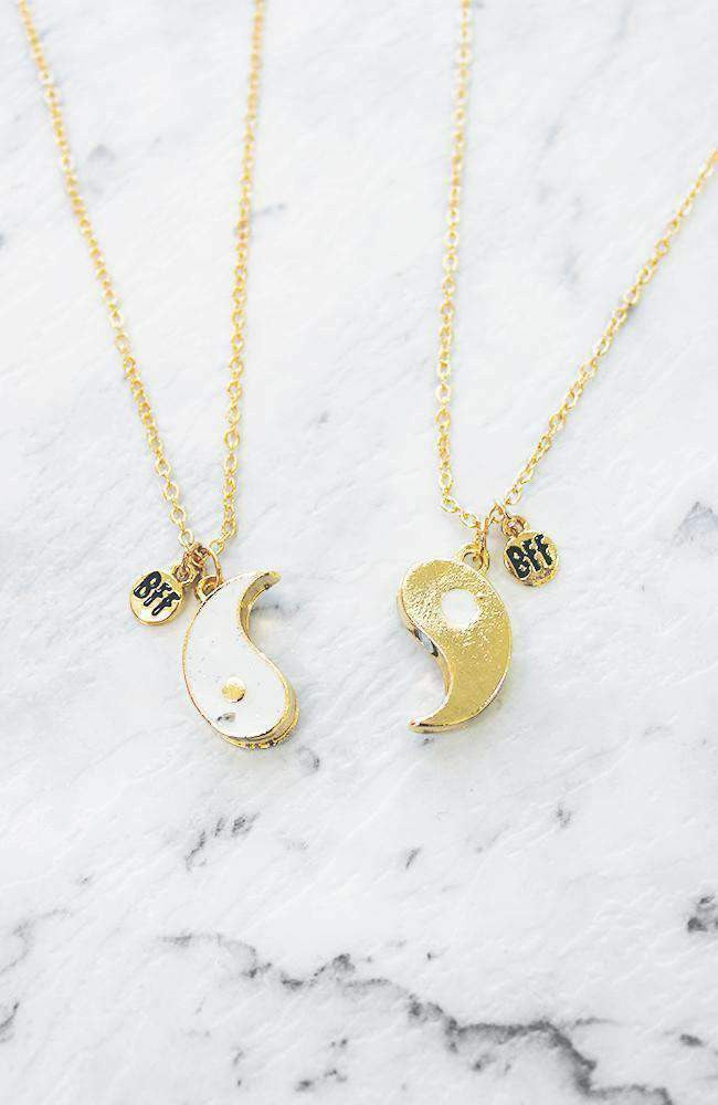 yin yang bff necklace set