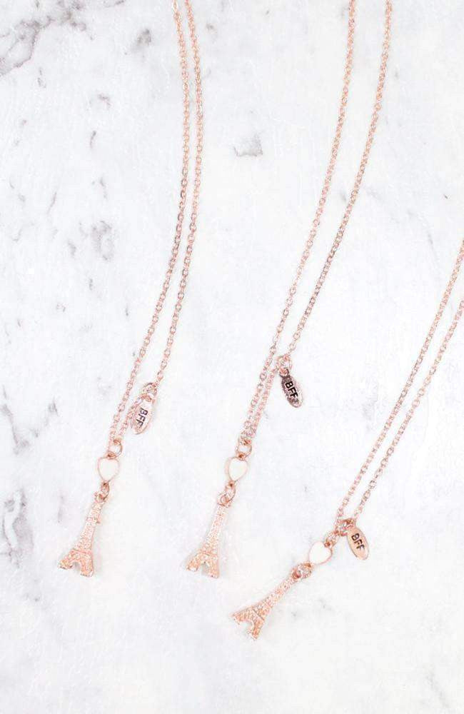 triple paris bff necklace set