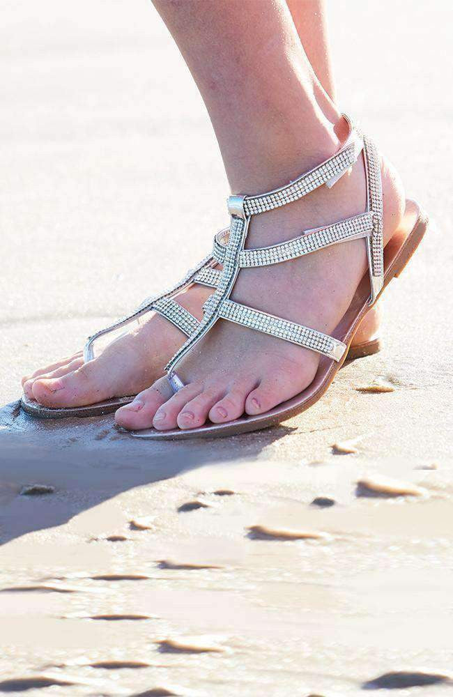 chloe crystal sandals