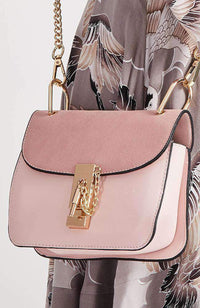 heart key pastel vegan leather chain crossbody boho bag