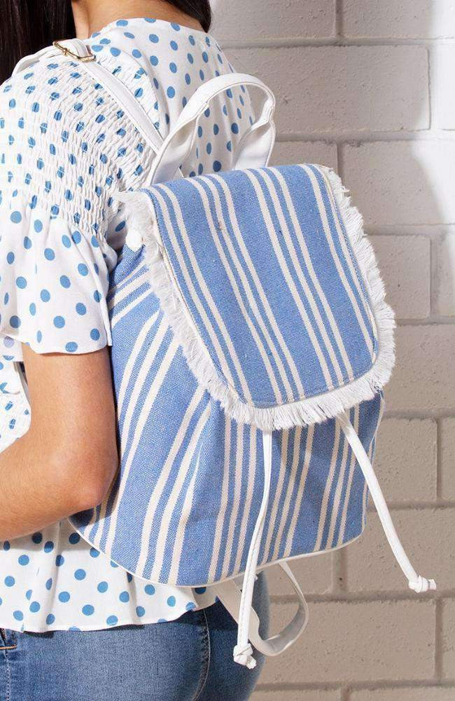 hamptons stripe backpack