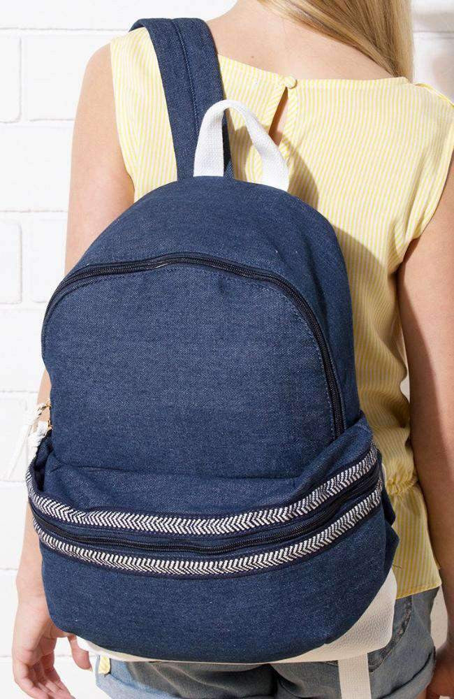 beach denim backpack