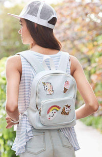 embroidered icecream backpack