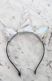 iridescent unicorn headband