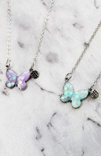 butterfly bff necklace
