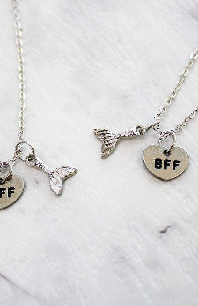 mermaid bff necklace