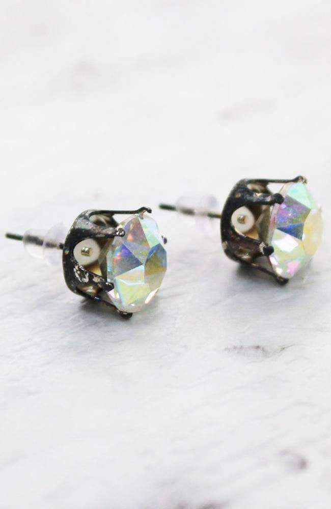 iridescent diamond earrings