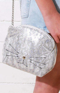 iridescent leopard kitten bag