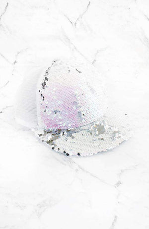 reversible sequins cap