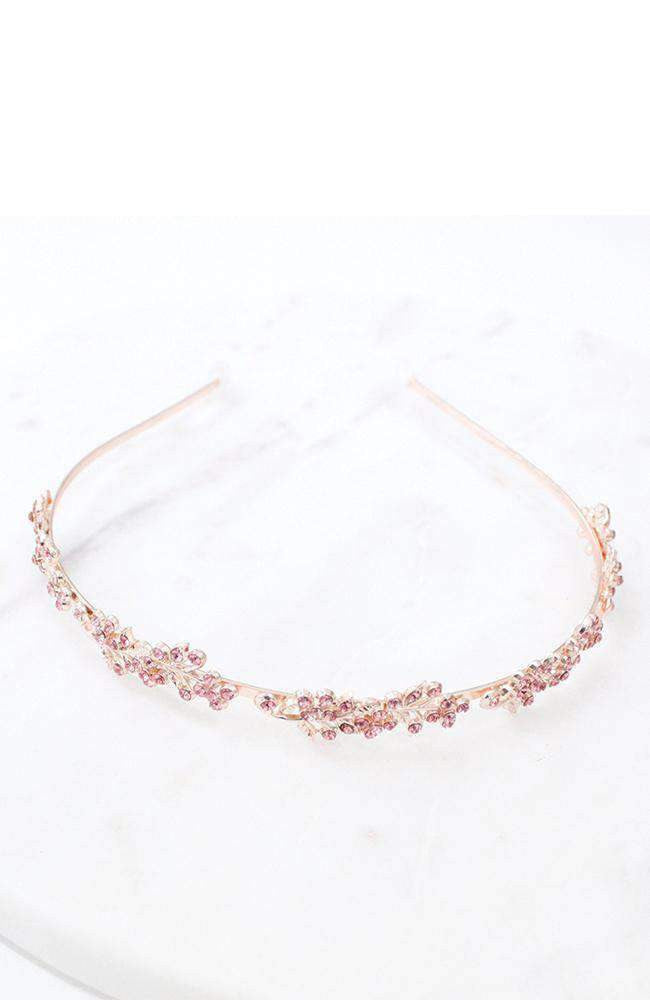grecian gold & pink diamante headband
