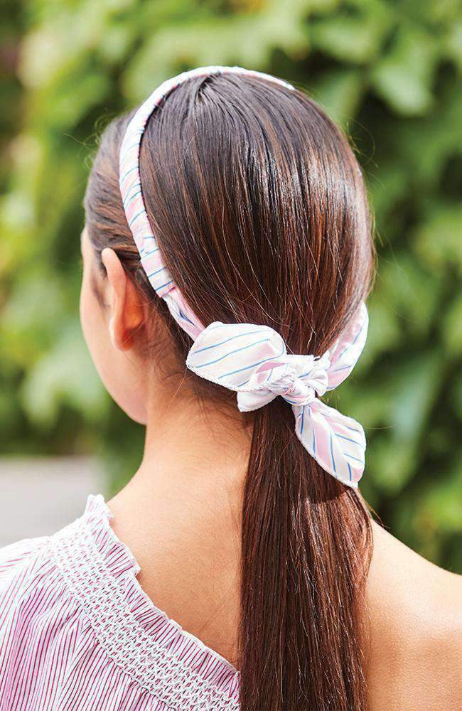 pastel stripes scarf headband