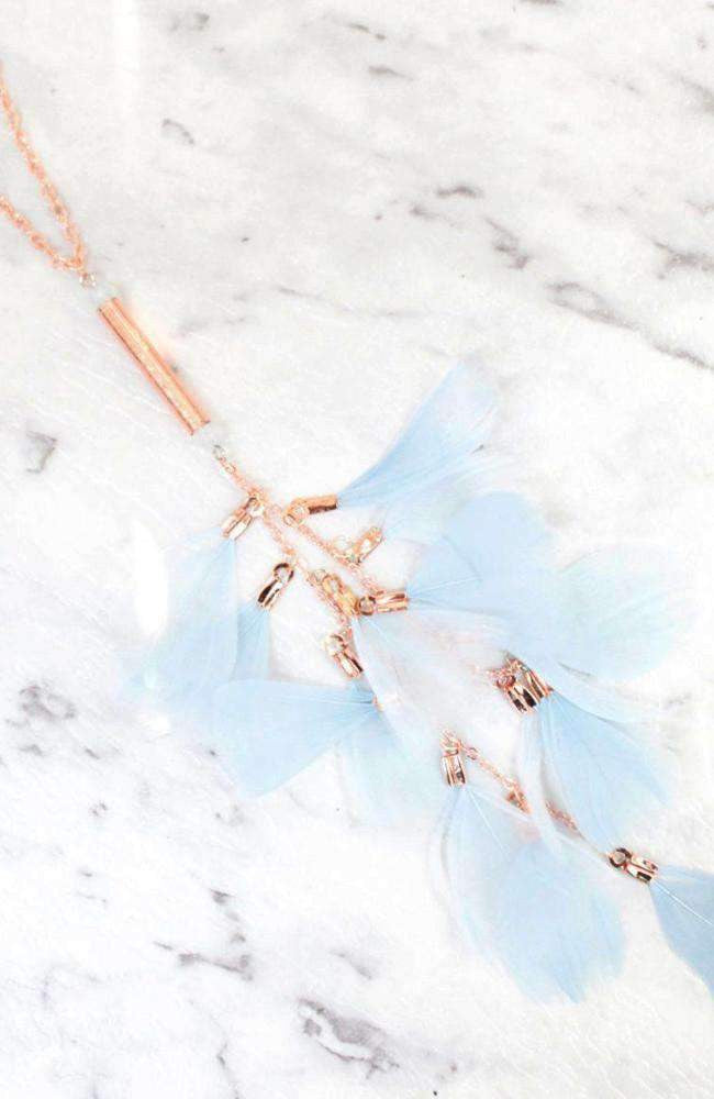 feather waterfall necklace