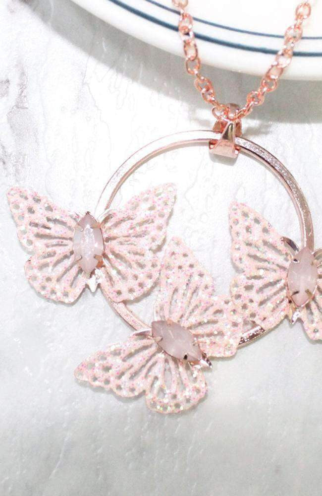 butterfly halo necklace