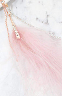 fluffy feather necklace