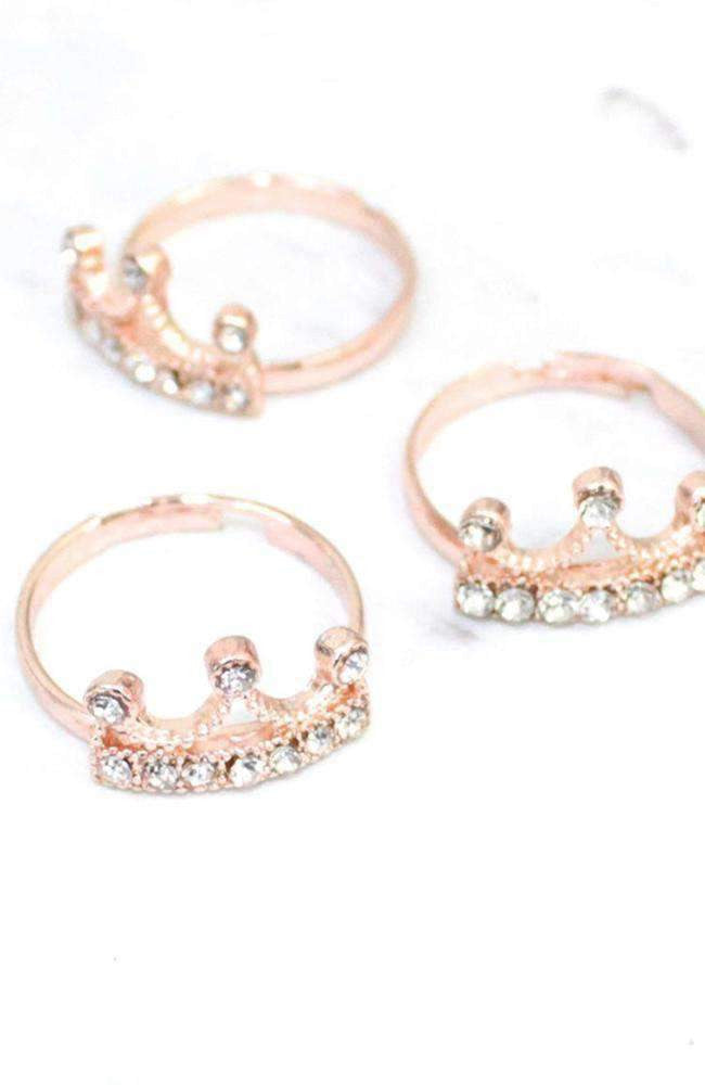 crown ring set