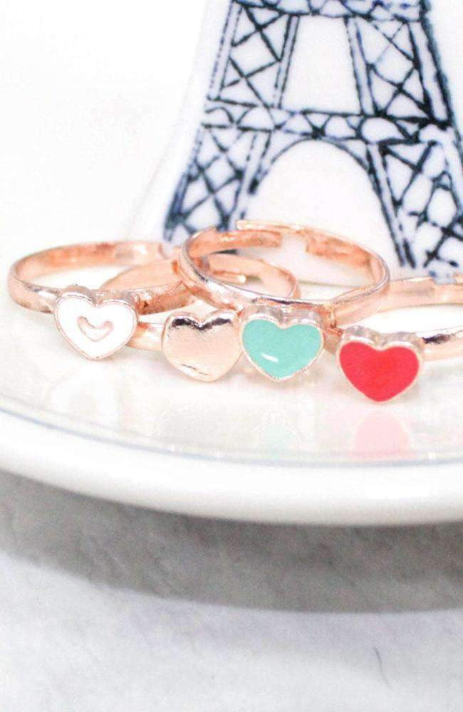 heart ring set