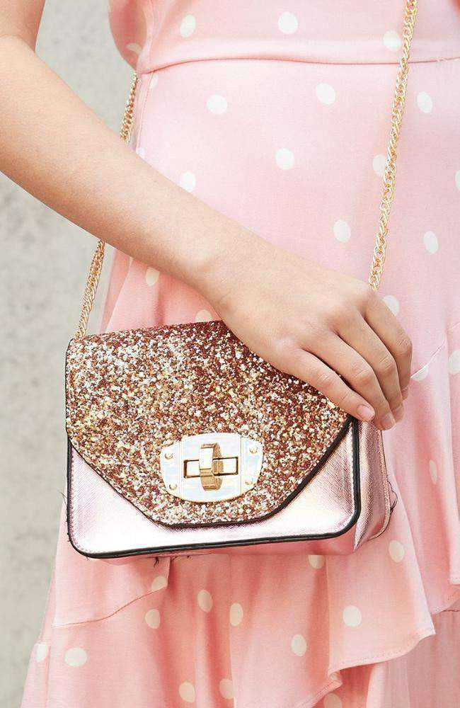 glitter paris bag