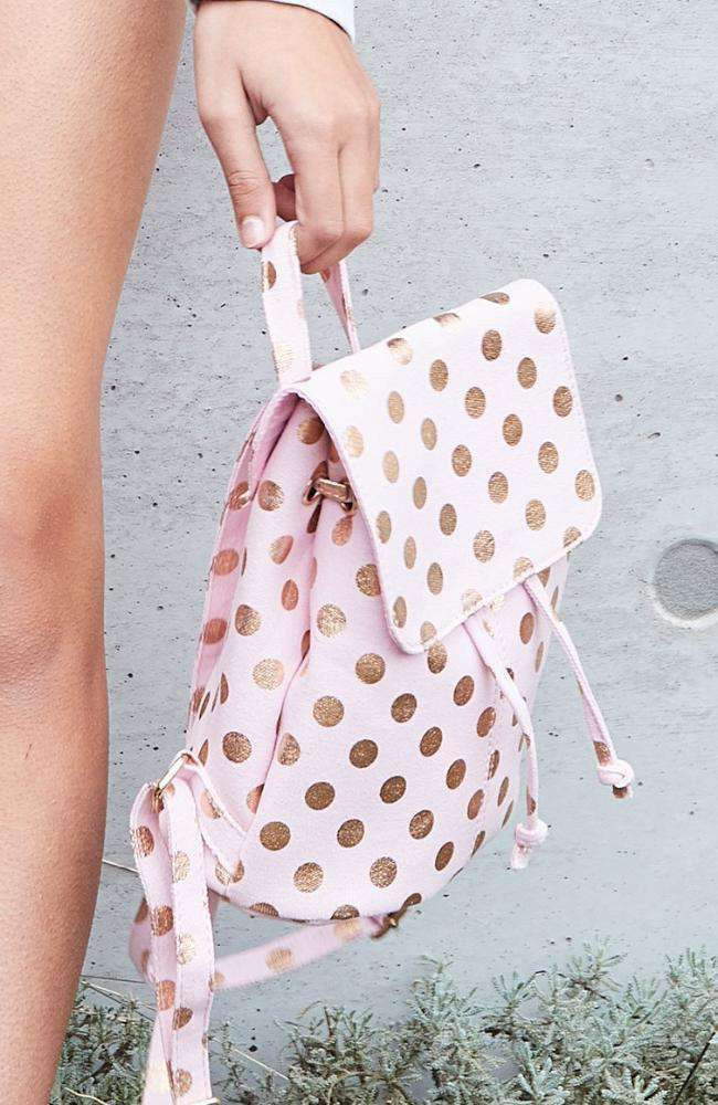 metallic spots backpack
