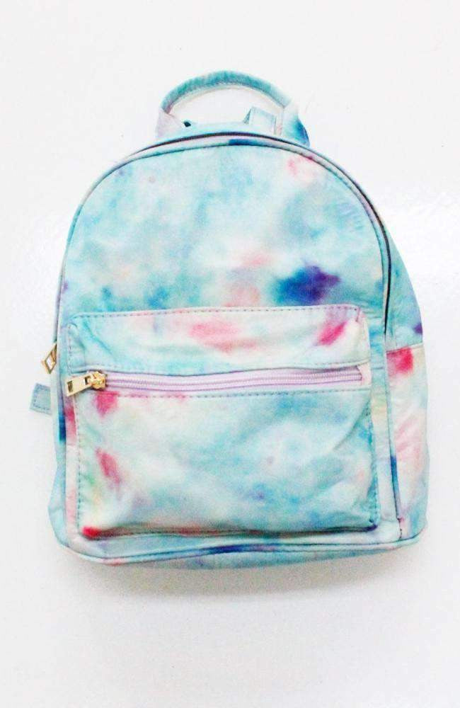 rainbow tie die backpack