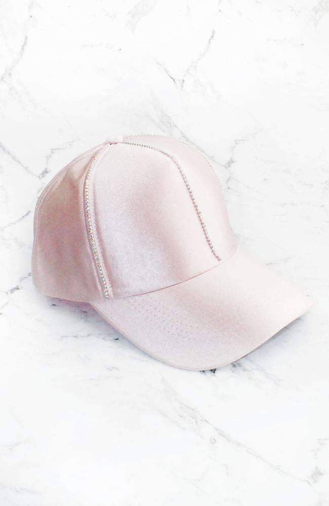 diamond satin cap