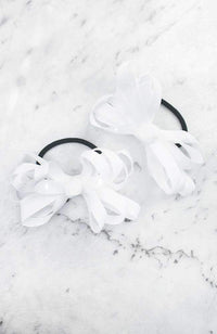 grosgrain bow hairties