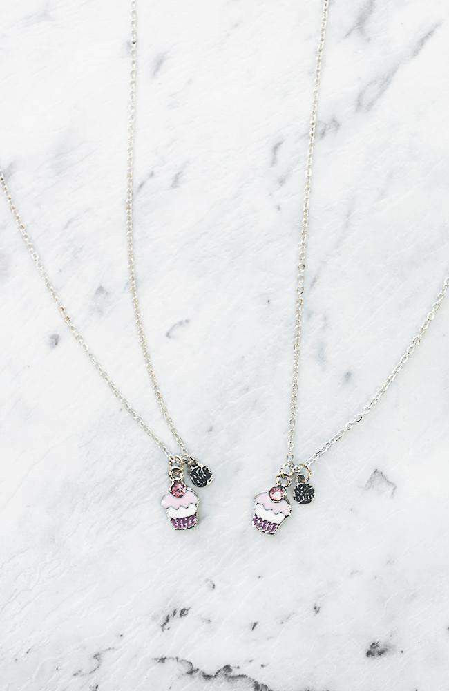 cupcake bff necklace set